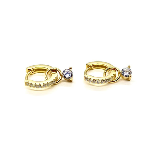 18k-Yellow-Gold-Vermeil-White-Cubic-Zirconia-Drop-Huggies