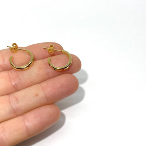18k-Yellow-Gold-Plated-Dainty-Rainbow-Etched-Gold-Stud-Hoops
