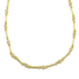 18k-Yellow-Gold-Vermeil-Dainty-Bar-Chain-And-Cubic-Zirconia-Choker