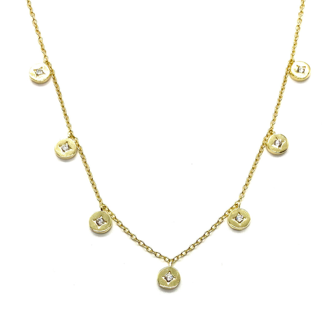 18k-Yellow-Gold-Vermeil-Dangling-Mini-North-Star-Coin-Charm-Necklace