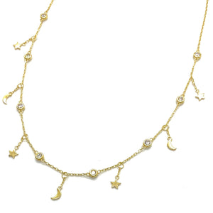 18k-Yellow-Gold-Vermeil-Dangling-Mini-Star-Moon-And-Cubic-Zirconia-Charm-Necklace