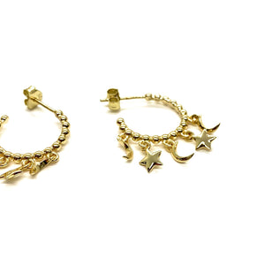 18k-Yellow-Gold-Vermeil-Dangling-Star-And-Moon-Gold-Ball-Hoops