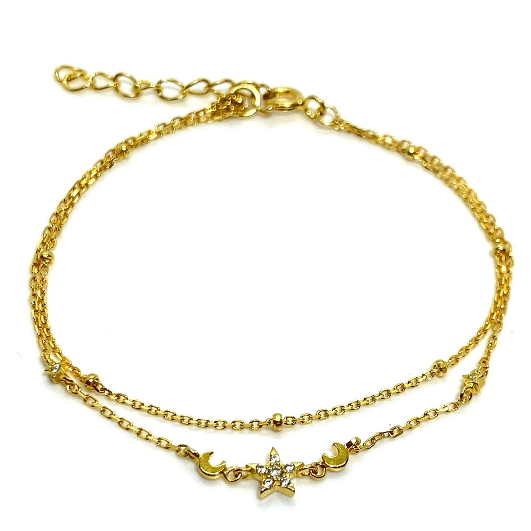 18k-Yellow-Gold-Vermeil-Delicate-Double-Chain-Star-And-Moon-Charm-Bracelet