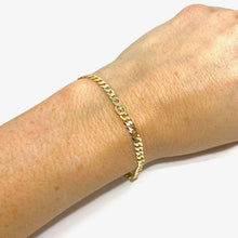 Load image into Gallery viewer, 18k-Yellow-Gold-Vermeil-Delicate-Mini-Cubic-Zirconia-Chain-Link-Bracelet