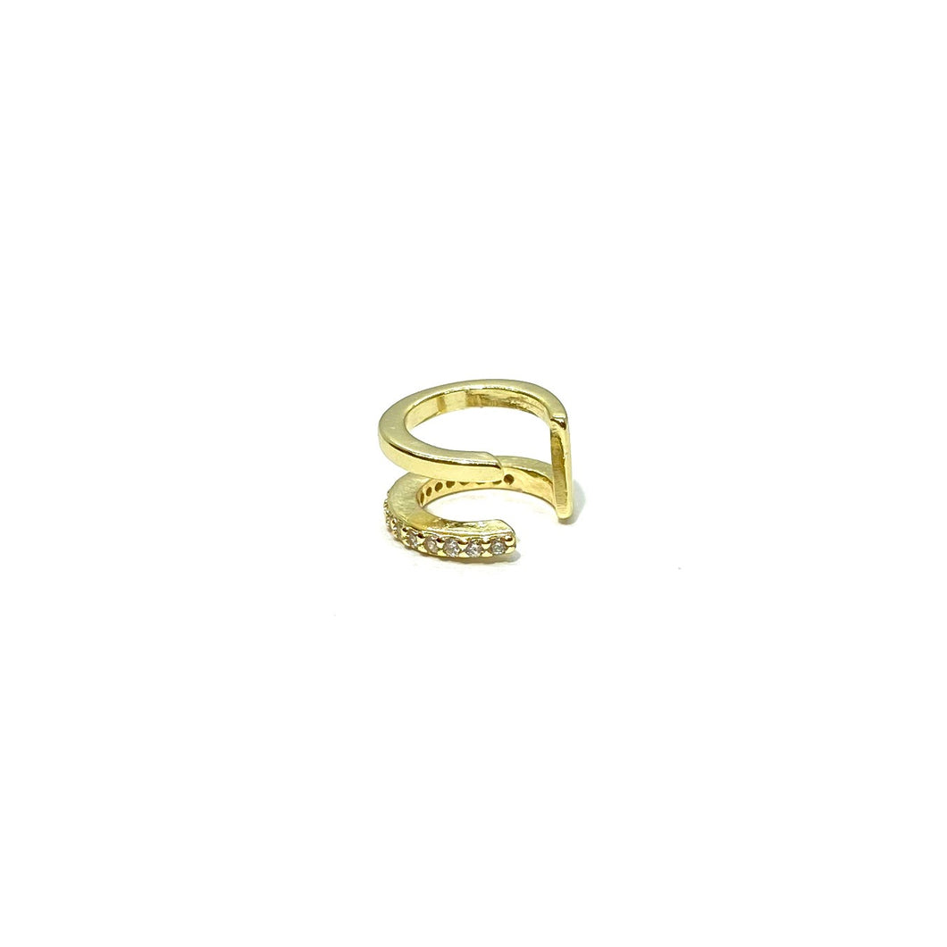 18k-Yellow-Gold-Plated-Double-Bar-Pave-Ear-Cuff