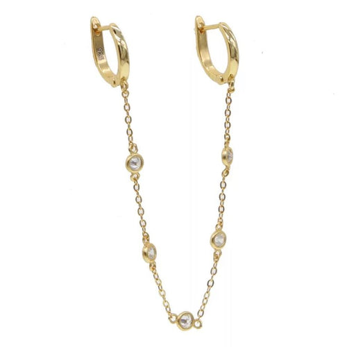 18k-Yellow-Gold-Vermeil-Double-Piercing-Diamond-By-The-Yard-Chain-Huggies