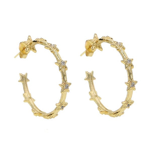 18k yellow gold plated Eloise Star Stud Hoops