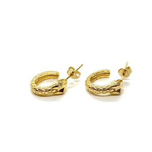 18k-Yellow-Gold-Vermeil-Etched-Detail-Gold-Snake-Stud-Hoops