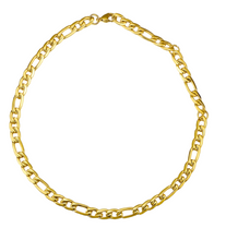 Load image into Gallery viewer, 18k Yellow Gold Plated Chunky Figaro Chain Choker