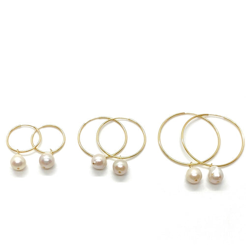 18k-Yellow-Gold-Filled-Wire-Pearl-Sleeper-Hoops