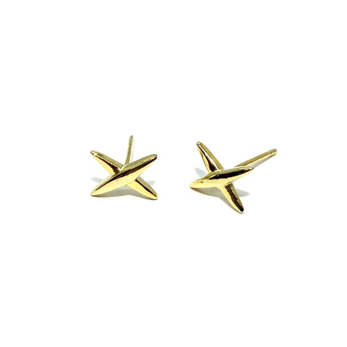 18k-Yellow-Gold-Vermeil-Gold-X-Marks-The-Spot-Studs