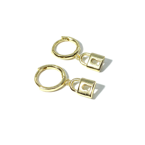 18k-Yellow-Gold-Vermeil-Keyhole-Lock-Huggies