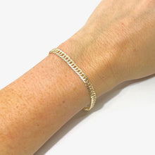 Load image into Gallery viewer, 14k-Yellow-Gold-Vermeil-Curb-Chain-Link-Bracelet