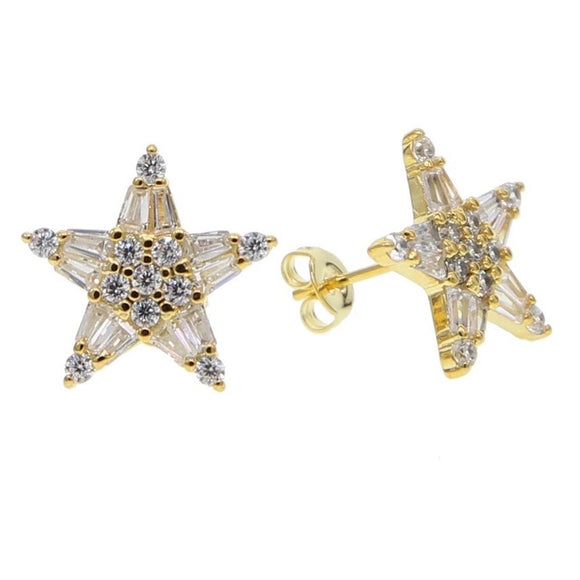 18k Gold Vermeil Gracie Star Studs