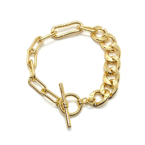 18k-Yellow-Gold-Plated-Half-And-Half-Chain-Link-Toggle-Bracelet