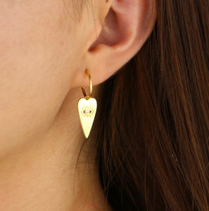18k-Yellow-Gold-Plated-Heart-And-Etched-Evil-Eye-Stud-Hoops