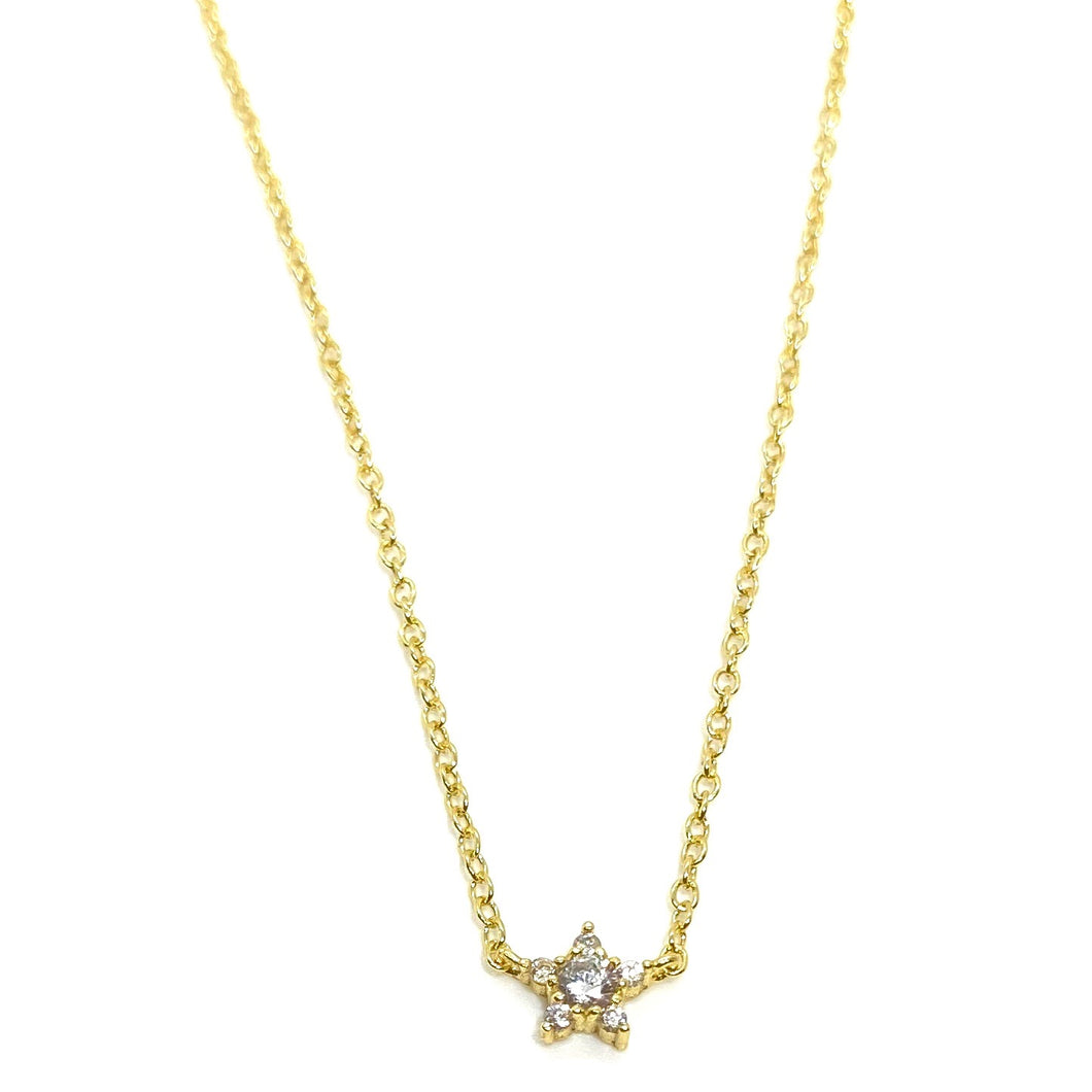 18k-Yellow-Gold-Vermeil-Itty-Bitty-Cubic-Zirconia-Star-Necklace