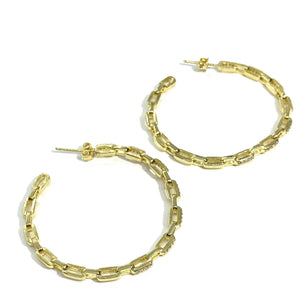 18k-Yellow-Gold-Plated-Large-Pave-Chain-Link-Hoops