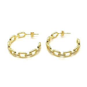 18k-Yellow-Gold-Plated-Medium-Pave-Chain-Link-Hoops