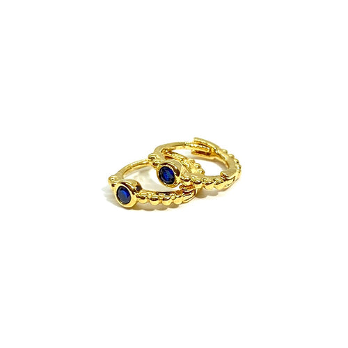 18k-Yellow-Gold-Vermeil-Mini-Blue-Cubic-Zirconia-Gold-Ball-Huggies