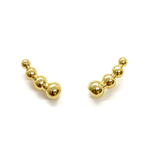 Load image into Gallery viewer, 18k-Yellow-Gold-Vermeil-Mini-Bubble-Ball-Studs