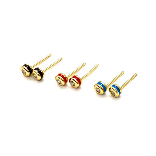 18k-Yellow-Gold-Vermeil-Mini-Enamel-Ball-Cubic-Zirconia-Stone-Studs
