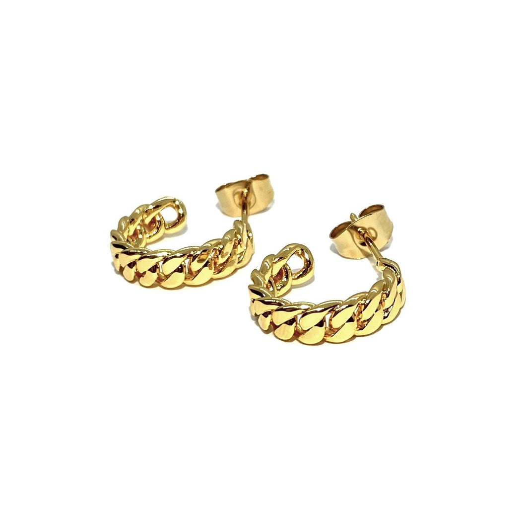 18k-Yellow-Gold-Plated-Mini-Gold-Chain-Link-Stud-Hoops
