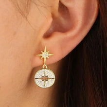 Load image into Gallery viewer, 18k Gold Plated Pave Myla Starburst Stud Earrings