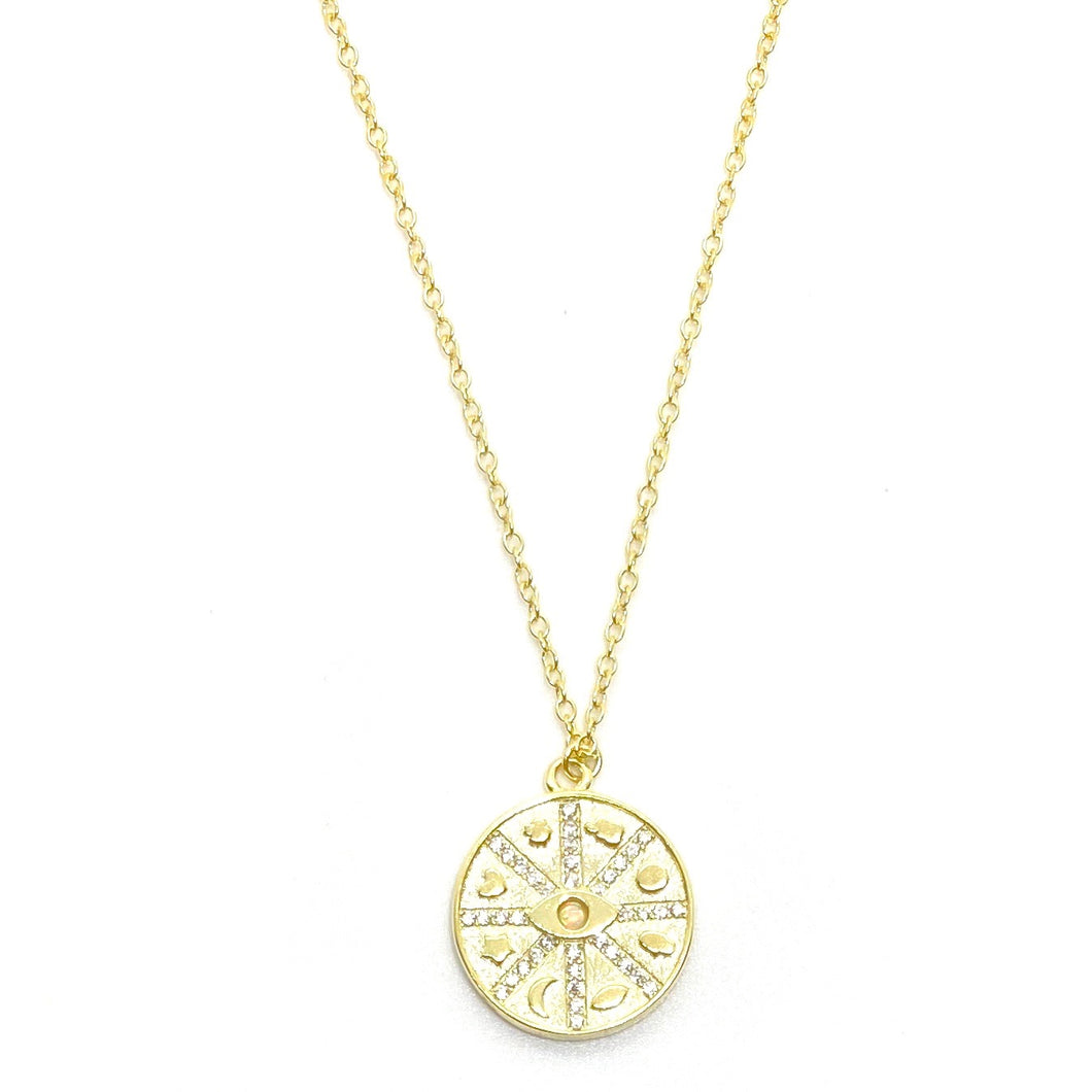 18k-Yellow-Gold-Vermeil-Opal-Lucky-Coin-Charm-Necklace