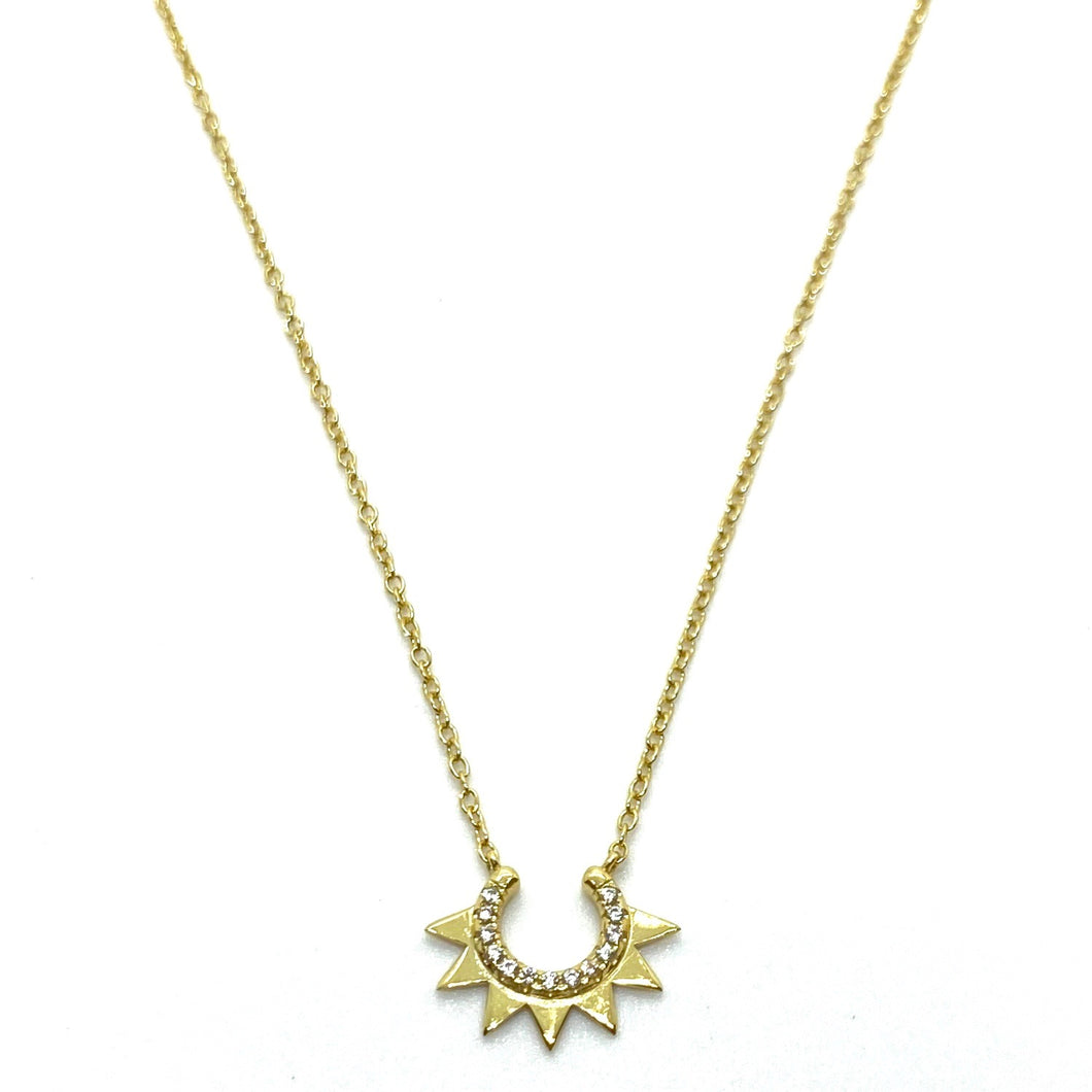 18k-Yellow-Gold-Vermeil-Pave-Cubic-Zirconia-Pave-Crown-Charm-Necklace