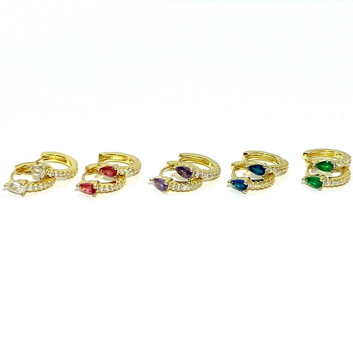 18k-Yellow-Gold-Plated-Petite-Pear-Cubic-Zirconia-Huggies