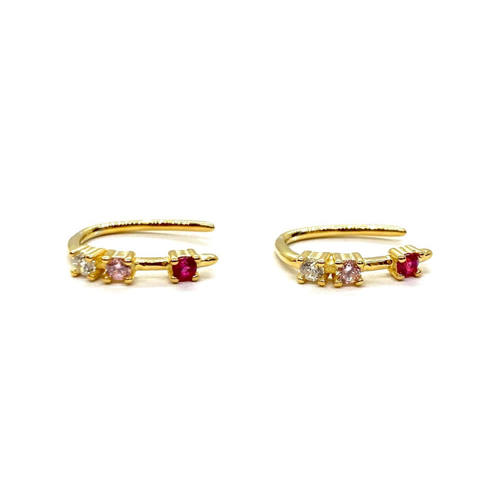 Poppy 18k Yellow Gold Vermeil Mini Loop Earrings