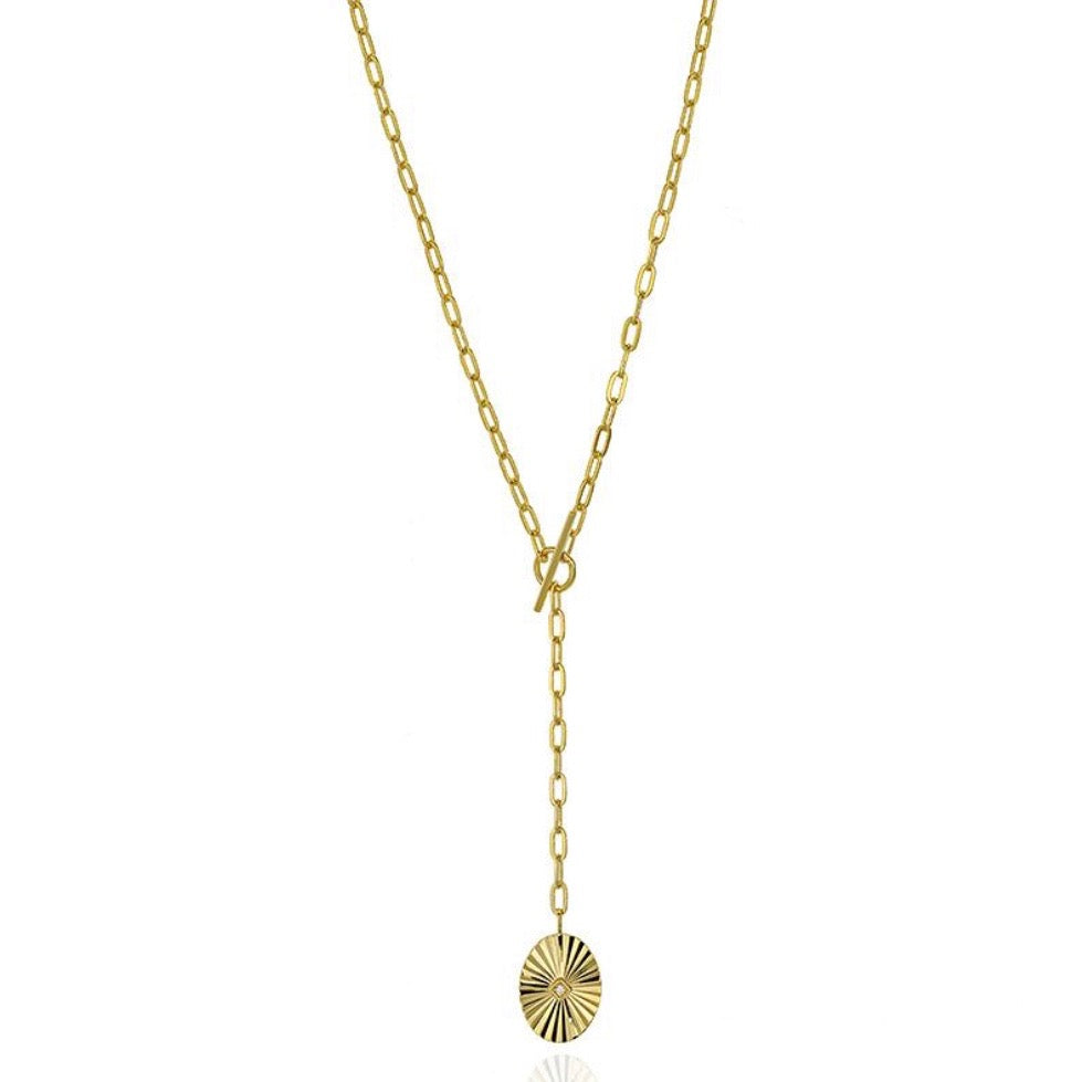18k-Yellow-Gold-Vermeil-Retro-Coin-And-Paper-Clip-Chain-Toggle-Lariat