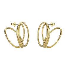 Load image into Gallery viewer, 18k Yellow Gold Plated Ryan Statement Earrings