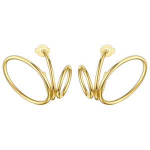 18k Yellow Gold Plated Ryan Statement Earrings