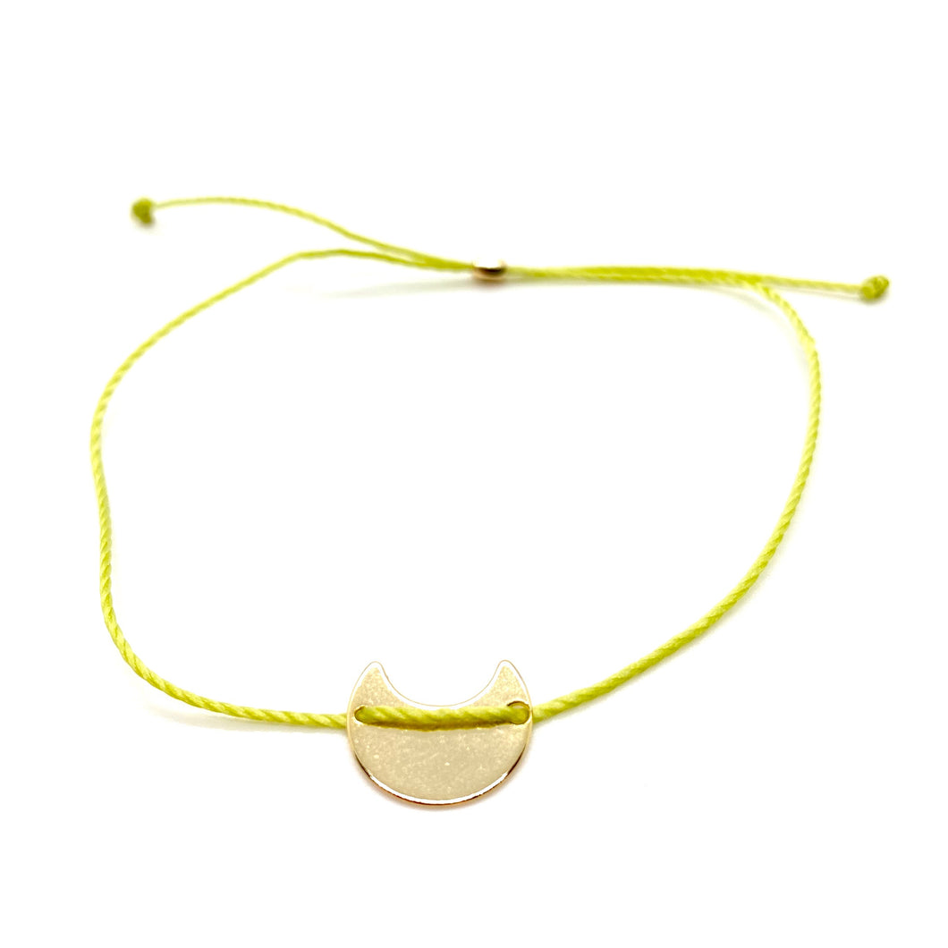 Selma String Bracelet (Lime Green)