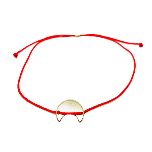 14k Yellow Gold Vermeil Selma Red String Bracelet