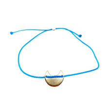 Load image into Gallery viewer, 14k Yellow Gold Vermeil Selma Teal Blue String Bracelet