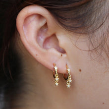 Load image into Gallery viewer, 18k Yellow Gold Plated Shari Star Earrings