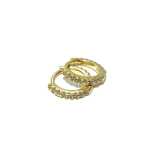 18k-Yellow-Gold-Vermeil-Simple-Pave-White-Cubic-Zirconia-Huggies