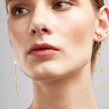 Load image into Gallery viewer, 18k Gold Plated Sissy Chain Stud Earrings