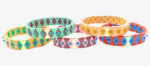 Suki Enamel Tile Stretch Bracelet
