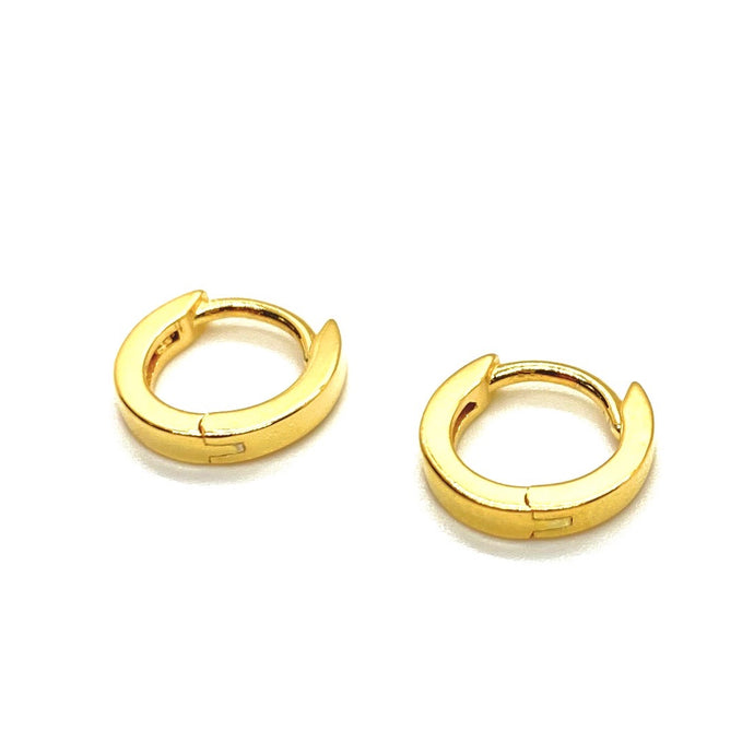 18k Yellow Gold Vermeil Itty-Bitty Gold Huggies