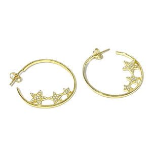 18k-Yellow-Gold-Vermeil-Triple-Pave-Star-Hoops