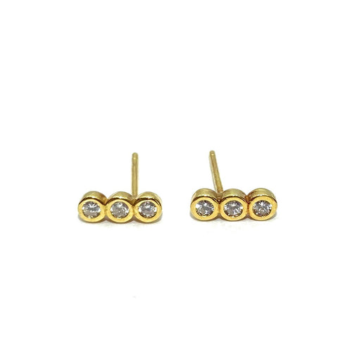 18k-Yellow-Gold-Vermeil-Triple-Cubic-Zirconia-Bezel-Bar-Studs