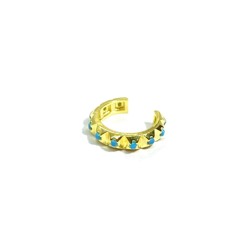 18k-Yellow-Gold-Plated-Turquoise-Spike-Ear-Cuff