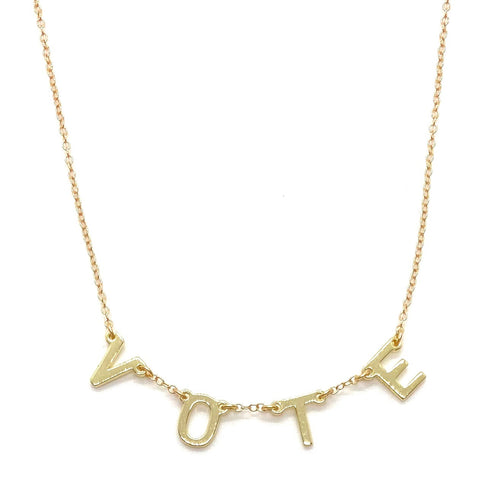 14k-Yellow-Gold-Vermeil-Vote-Letter-And-Chain-Necklace