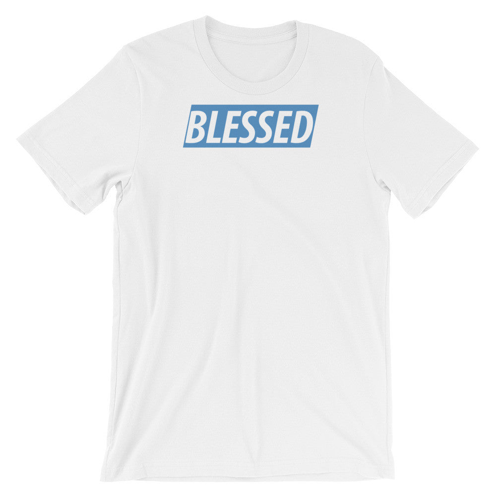 Blessed Navy & Heaven Blue short sleeve t-shirt