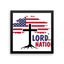 Lord of this Nation Framed poster