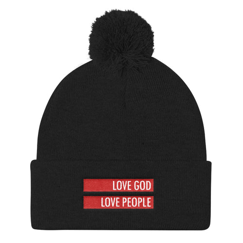 Love God Love People Knit Cap